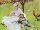Madame Monet and Her Son, 1874 - Pierre Auguste Renoir