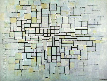 Composition No II Line and Color 1913 - Piet Mondrian reproduction oil painting