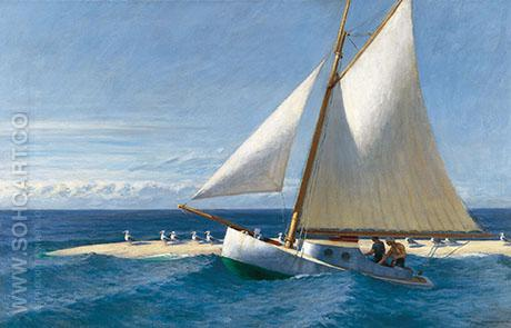 The Martha McKeen of Wellfleet 1944 - Edward Hopper reproduction oil painting