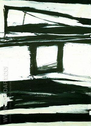 Palladio 1961 - Franz Kline reproduction oil painting