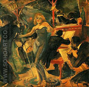 Hot Jazz (Bleecker Street Tavern Mural) 1940 - Franz Kline reproduction oil painting