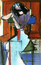 Seated Figure (Elizabeth) 1948 - Franz Kline reproduction oil painting