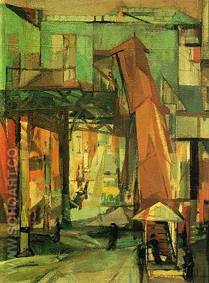 Chatham Square 1948 - Franz Kline reproduction oil painting