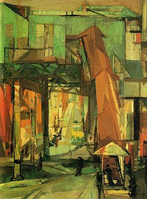 Chatham Square 1948 - Franz Kline reproduction oil painting