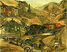 Palmerton PA 1941 - Franz Kline reproduction oil painting