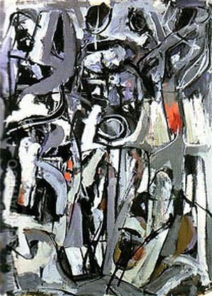 The Bridge 1951 - Franz Kline reproduction oil painting