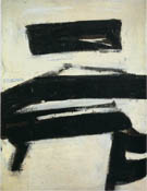 Black and White 1951 - Franz Kline reproduction oil painting
