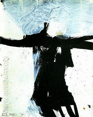 Study For Flanders 1984 - Franz Kline reproduction oil painting