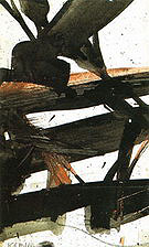 Study for Horizontal Rust 1960 - Franz Kline reproduction oil painting