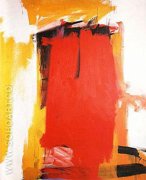 Harley Red 1959-60 - Franz Kline reproduction oil painting