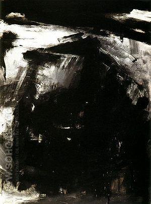 Requiem 1958 - Franz Kline reproduction oil painting