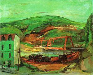 Pennsylvania Landscape 1948-49 - Franz Kline reproduction oil painting