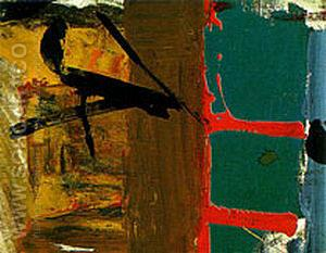 Green Red and Brown 1955 - Franz Kline reproduction oil painting
