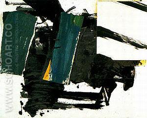 Green Oblique (Study for De Medici) 1956 - Franz Kline reproduction oil painting