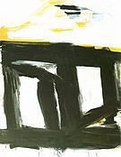 Zinc Door 1961 - Franz Kline reproduction oil painting