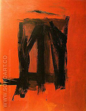 Red Painting 1961 - Franz Kline reproduction oil painting