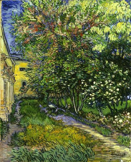 The Garden of the Asylum St Remy 1889 - Vincent van Gogh reproduction oil painting
