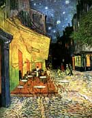 The Cafe Terrace at Arles at Night - Vincent van Gogh reproduction oil painting