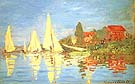 Regatta at Argenteuil - Claude Monet reproduction oil painting