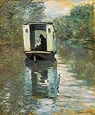 Le Bateau Atelier - Claude Monet reproduction oil painting