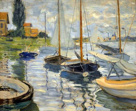 Sailboats in the Boat Rental Area, 1874 - Claude Monet reproduction oil painting