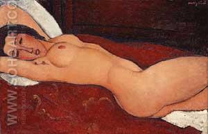 Reclining Nude 1917 - Amedeo Modigliani reproduction oil painting