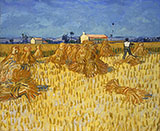 Harvest in Provence - Vincent van Gogh reproduction oil painting