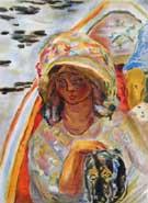 Jeune Fille Dans Une Baroque - Pierre Bonnard reproduction oil painting