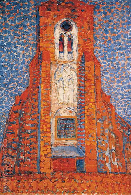 Sun Church in Zeeland - Piet Mondrian reproduction oil painting