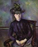 Portrait of a Woman in Green Hat - Paul Cezanne