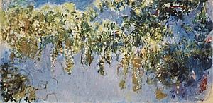 Wisteria, 1919-20 - Claude Monet reproduction oil painting