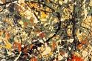 No 8 1949 Rectangle Detail - Jackson Pollock