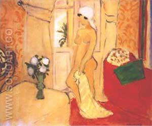Nude in a White Turban - Henri Matisse reproduction oil painting