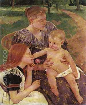 The Family - Mary Cassatt reproduction oil painting