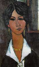 Woman of Algiers 1917 - Amedeo Modigliani reproduction oil painting