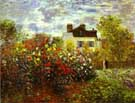 Garden at Argenteuil 1873 - Claude Monet reproduction oil painting