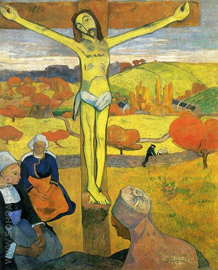 The Yellow Christ - Paul Gauguin reproduction oil painting