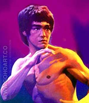 Bruce Lee Purple Vengence - Male Movie Stars reproduction oil painting