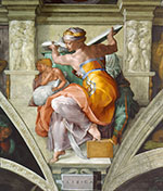 Sistine Chapel, Five Sibyls, The Libyan Sibyl 1511 - Michelangelo reproduction oil painting