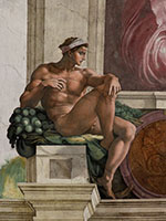 Ignudi - Michelangelo reproduction oil painting