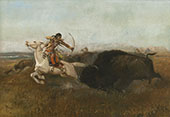 Indians Hunting Buffalo 1894 - Charles M Russell