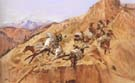 Attack on the Mule Train 1891 - Charles M Russell