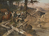 The Ambush [The Road Agents] 1896 - Charles M Russell reproduction oil painting