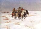 The Snow Trail 1897 - Charles M Russell reproduction oil painting