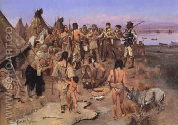 Captain William Clark of the Lewis and Clark Expedition 1897 - Charles M Russell reproduction oil painting