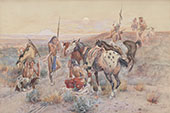 The Scout 1907 - Charles M Russell reproduction oil painting