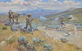 Buffalo Bill's Duel with Yellohand 1917 - Charles M Russell