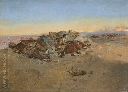 There May Be Danger Ahead 1893 - Charles M Russell reproduction oil painting