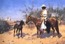 The Sentinel 1889 - Frederic Remington reproduction oil painting