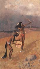 The Thunder-Fighters Would Take Their Bows 1892 - Frederic Remington reproduction oil painting